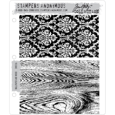 Tim Holtz Background Stamp - Wallpaper and Wood