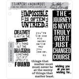 Tim Holtz Quote and Journaling Stamps CMS132