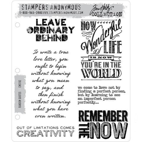 Random Quotes ... Cling Rubber Stamps by Tim Holtz