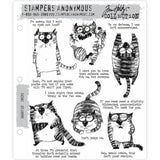 Tim Holtz Cling Stamps - Snarky Cat