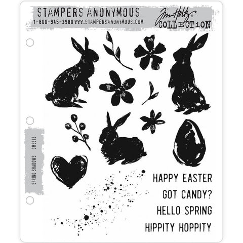 Spring Shadows ... 16 rubber stamps by Tim Holtz (CMS393)