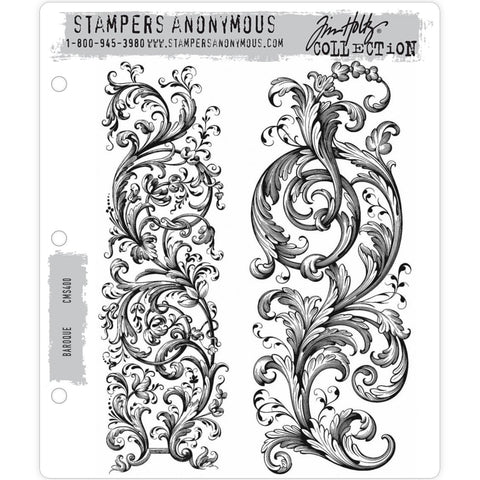 Baroque - Tim Holtz Cling Stamps - made by Stampers Anonymous and Art Gone Wild