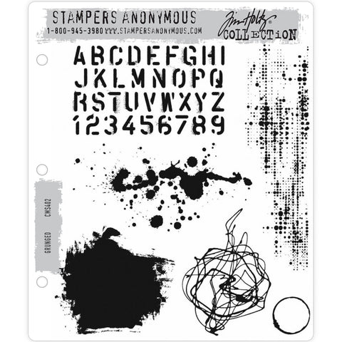 Grunged - Tim Holtz Cling Stamps - made by Stampers Anonymous and Art Gone Wild