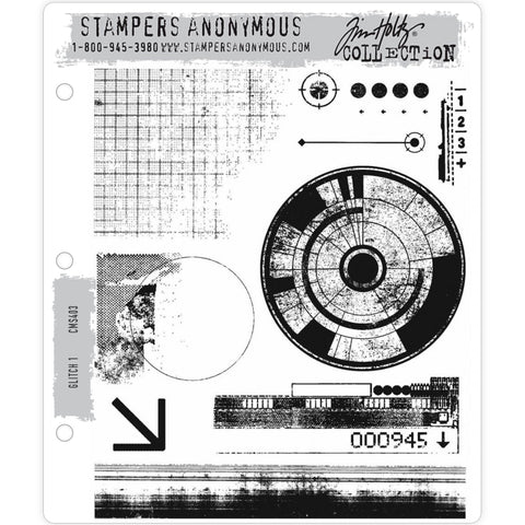 Grunge Set 1 - Tim Holtz Cling Stamps - made by Stampers Anonymous