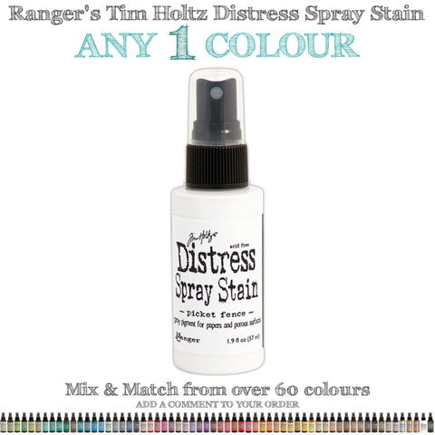Ranger's Tim Holtz Distress Spray Stain ... Choose any 1 (one) colour from over 60 colours of unique ink sprays.