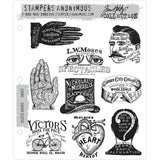 Tim Holtz Cling Stamps - Eclectic Adverts cms372