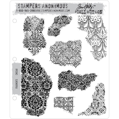 Fragments ... set of 8 cling rubber stamps by Tim Holtz