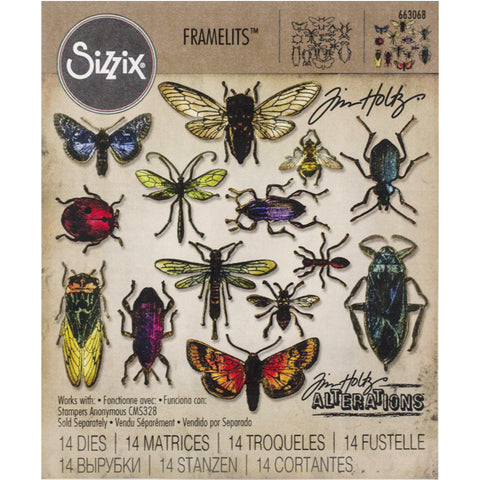 Tim Holtz Entomology Framelits Die Cutting Set by Sizzix
