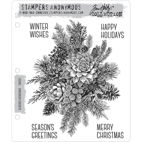 Tim Holtz Cling Stamps - Glorious Gatherings