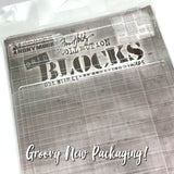 Tim Holtz Acrylic Grid Blocks - 9 Pieces - Assorted Sizes