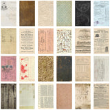 photo showing the backs of Tim Holtz Idea-Ology Papers - Backdrops Vol 2