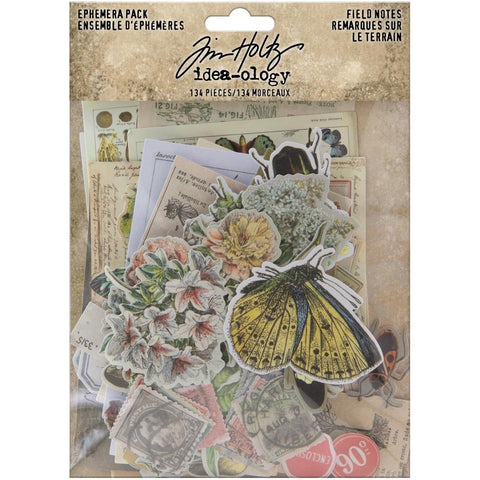 Field Notes - Idea-Ology Ephemera ... by Tim Holtz ... 134 gorgeous die cut, ready to use images