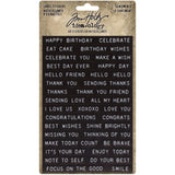 Sentiments ... Label Stickers - Idea-Ology by Tim Holtz ... 2 (two) sheets of adhesive backed embossed tape