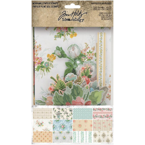 Tim Holtz Idea-Ology Surfaces - Worn Wallpaper Scraps