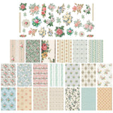 Tim Holtz Idea-Ology Papier Collection - Worn Wallpaper Scraps
