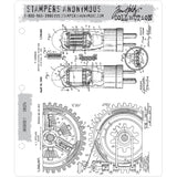 Inventor 7 Cling Art Stamps by Tim Holtz and Stampers Anonymous cms374