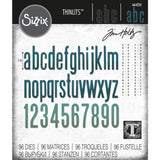 Tim Holtz Thinlits Die Cutting Set by Sizzix - Alpha Classic Lower