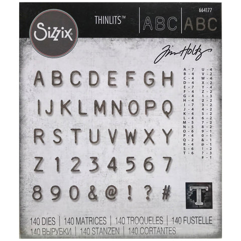 Tim Holtz Thinlits - Die Cutting Set by Sizzix - Alphanumeric Label
