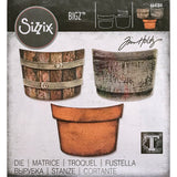 Tim Holtz Bigz Steel Die by Sizzix - Potted - Barrels and Pots