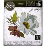 Brushstroke Flowers no.3 ... Thinlits Die Cutting Templates by Tim Holtz, made by Sizzix (no.665360)