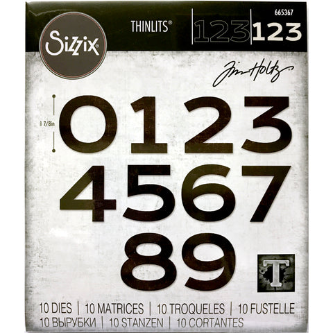 cover image for Countdown (numbers) Thinlits Die Cutting Templates by Tim Holtz, made by Sizzix (no.665364)