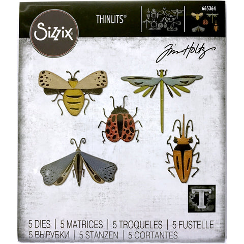 Funky Insects ... Thinlits Die Cutting Templates by Tim Holtz, made by Sizzix (no.665364)