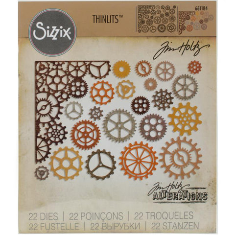 Gearhead (cogs, mechanical and steampunk elements) ... Thinlits - Die Cutting Templates by Tim Holtz and Sizzix (no.661184)
