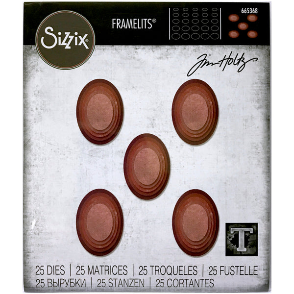 Stacked Tiles - Ovals ... Thinlits (Framelits) - Die Cutting Templates by Tim Holtz and Sizzix (665368)