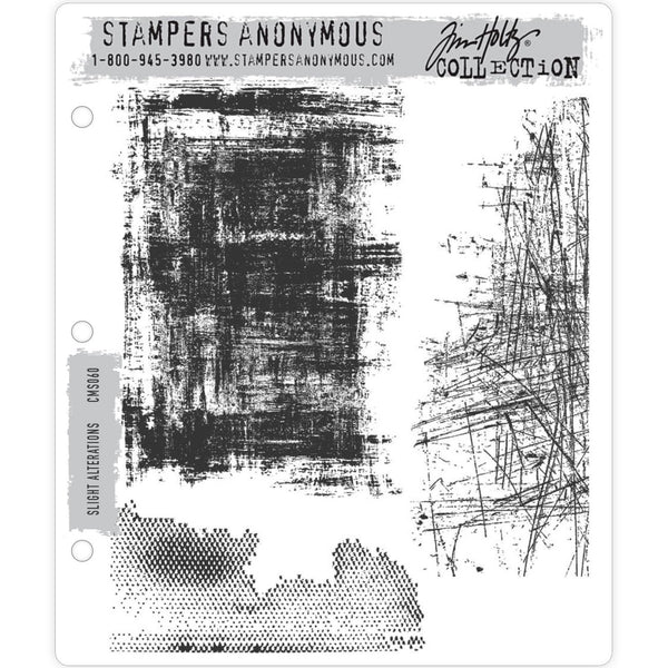 Slight Alterations ... 3 (three) rubber stamps by Tim Holtz (CMS060)