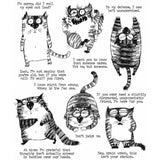 images of Tim Holtz Cling Stamps - Snarky Cat