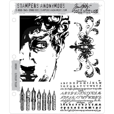 Tim Holtz Cling Stamps - Artful Artifacts