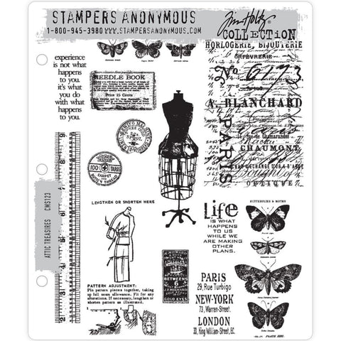 Tim Holtz Cling Stamps - Attic Treasures