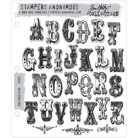 Tim Holtz Cling Stamps - Cirque Alpha Mini