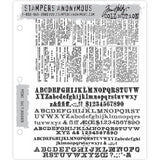 Newsprint and Type ... Tim Holtz Cling Stamps - 2 Large Rubber Stamps