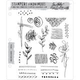 Mini Media Marks ... Doodles and Scribbles with Style! - set of 22 rubber stamps by Tim Holtz