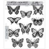 Flutter ... rubber stamps by Tim Holtz (cms294) and Stampers Anonymous