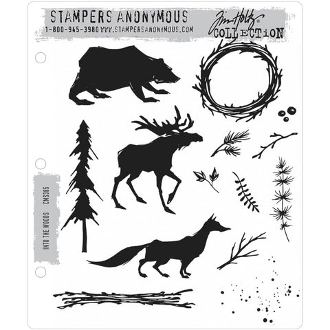 Into The Woods ... 14 rubber stamps by Tim Holtz (CMS385)