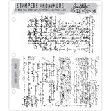 Tim Holtz Cling Stamps - Ledger Script