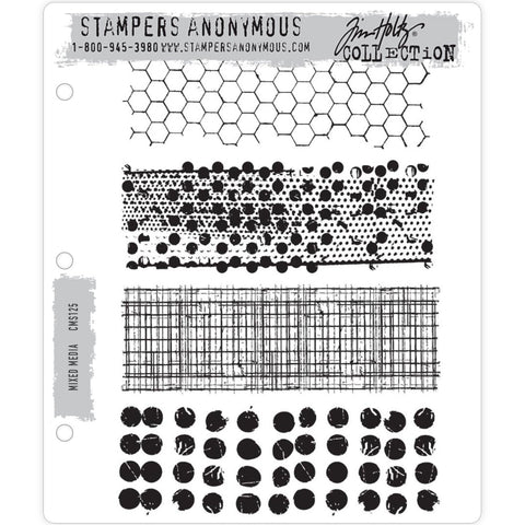 Tim Holtz Cling Stamps - Mixed Media