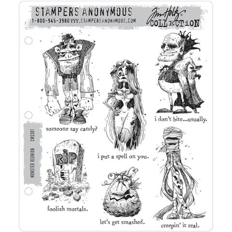 Tim Holtz Cling Stamps - Monster Reunion