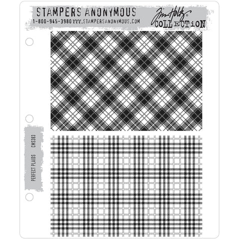 Tim Holtz Cling Stamps - Perfect Plaids