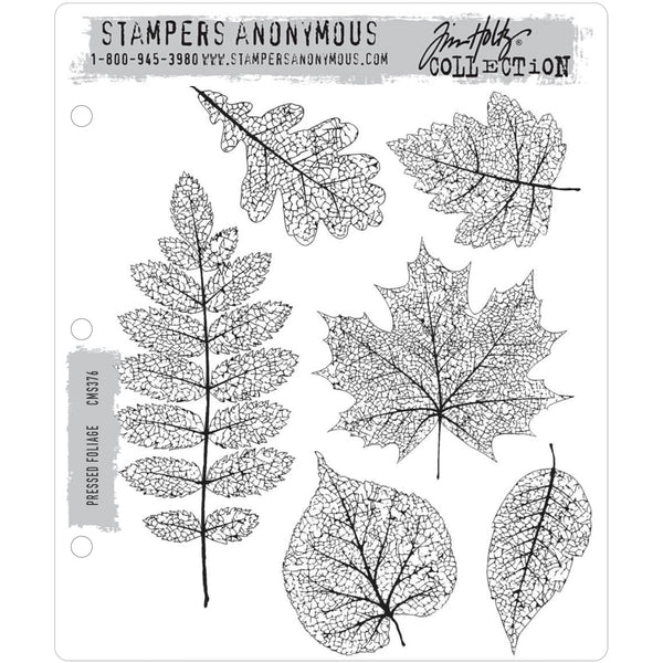 Tim Holtz Cling Stamps - Pressed Foliage