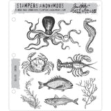 Tim Holtz Cling Stamps - Sea Life