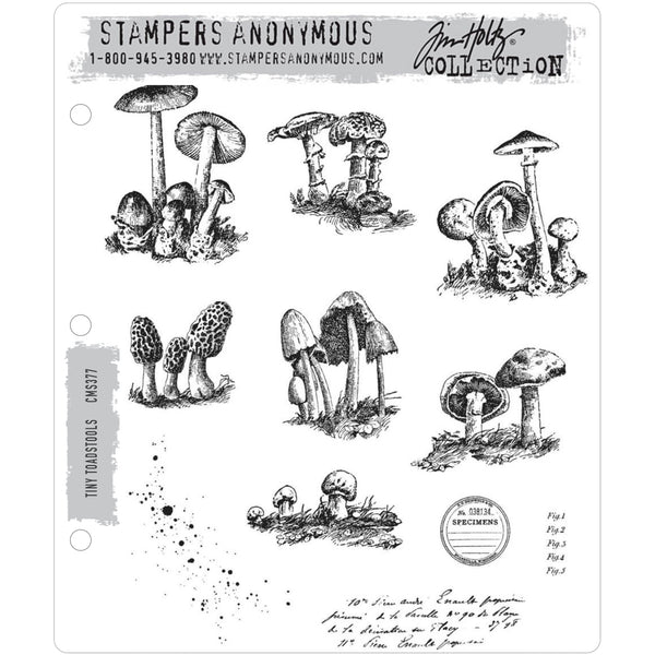 Tim Holtz Cling Stamps - Tiny Toadstools