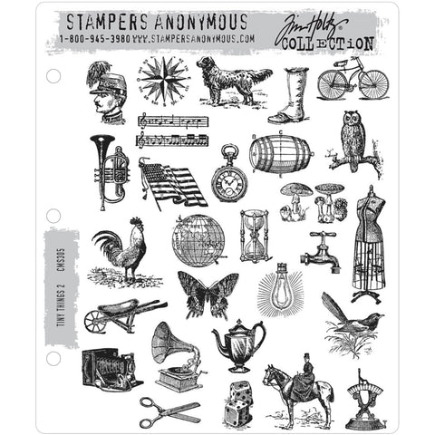 tim holtz stampers anonymous rubber stamp set called Tiny Things no2