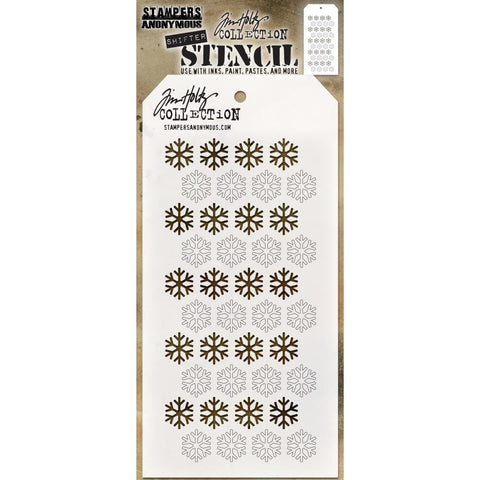 Shifter Stencil - Snowflake ... layering stencil by Tim Holtz (THS135)
