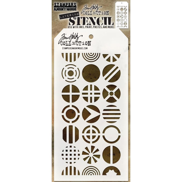 Tim Holtz Layering Stencil - Patchwork Circle - NEW!