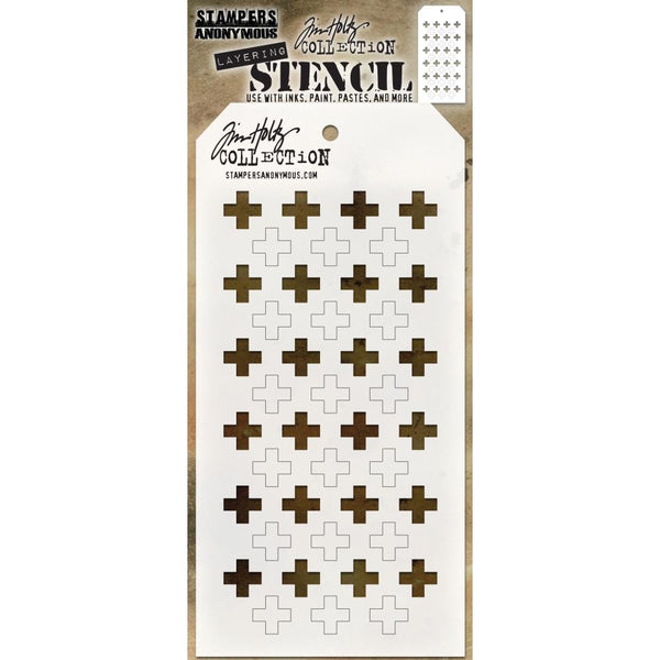 Shifter Stencil - Plus ... layering stencil by Tim Holtz (THS122)