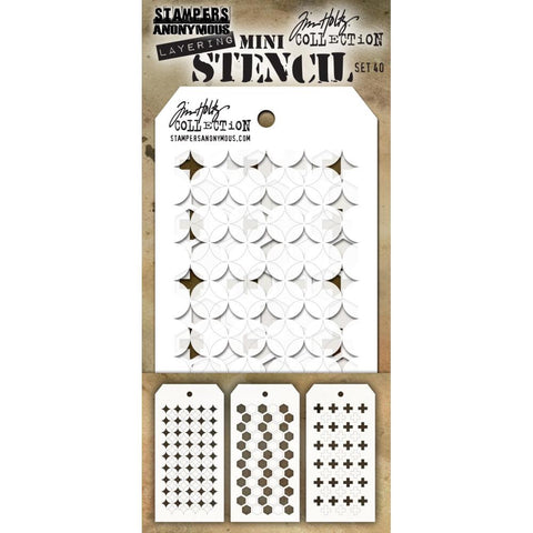 Tim Holtz Layering Mini Stencil - Set 40 - Shifter Burst Hex Plus