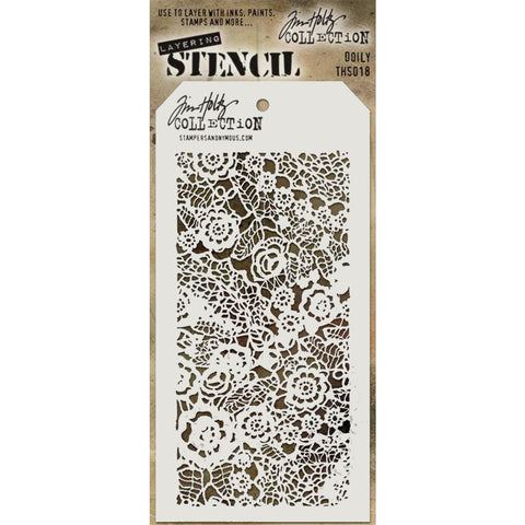 Doily ... layering stencil by Tim Holtz (THS018)